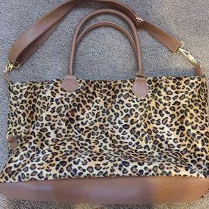 Handbags - Large Leopard Print Travel Bag/Tote